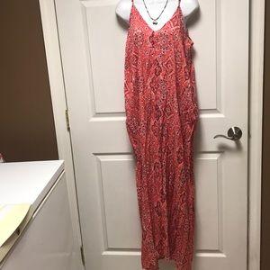 Boho style long dress with pockets